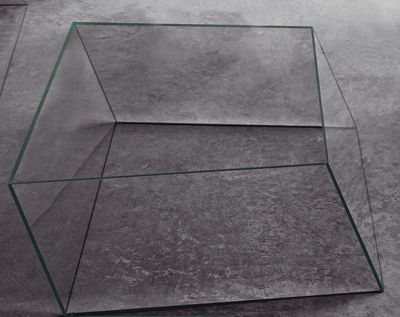 Table basse Wireframe 75 x 87 cm - Glas Italia vert/transparent en verre