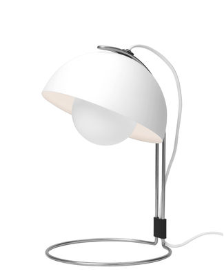 Lighting - Table Lamps - FlowerPot VP4 Table lamp - H 36 cm by &tradition - White - Lacquered aluminium