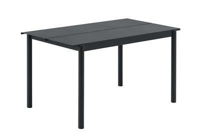 Table rectangulaire Linear / Acier - 140 x 75 cm - Muuto noir en métal