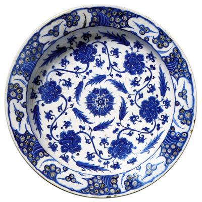 Mobilier - Tapis - Tapis Modèle 01 - Moooi - Fond blanc - motifs bleus - Nylon