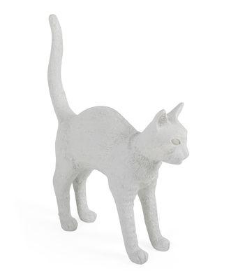 Jobby the cat Tischleuchte / H 52 cm - Seletti - Weiß