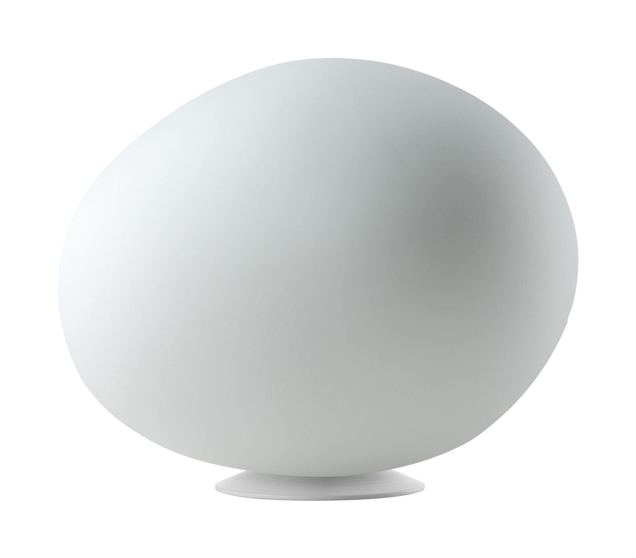 Leuchten - Tischleuchten - Poly Gregg Piccola Tischleuchte Small - L 31 cm - Foscarini - Weiß - lackierter Stahl, Polyäthylen