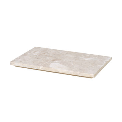 Decoration - Flower Pots & House Plants - Tray - marble / For Plant box planter Depth 25 cm by Ferm Living - Marble / Beige - Marble
