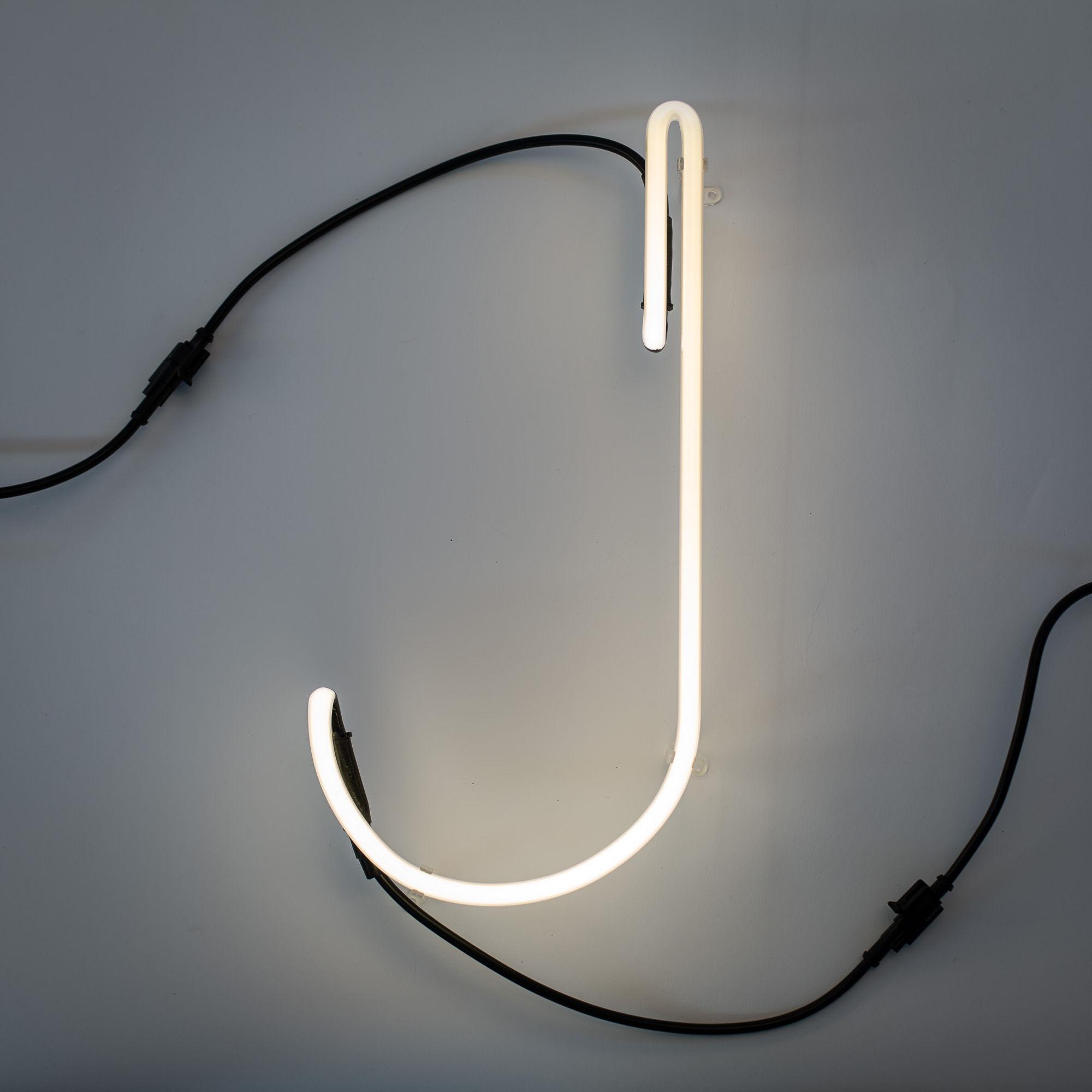 Lighting - Wall Lights - Néon Alphafont Wall light with plug - Letter J by Seletti - J - Glass