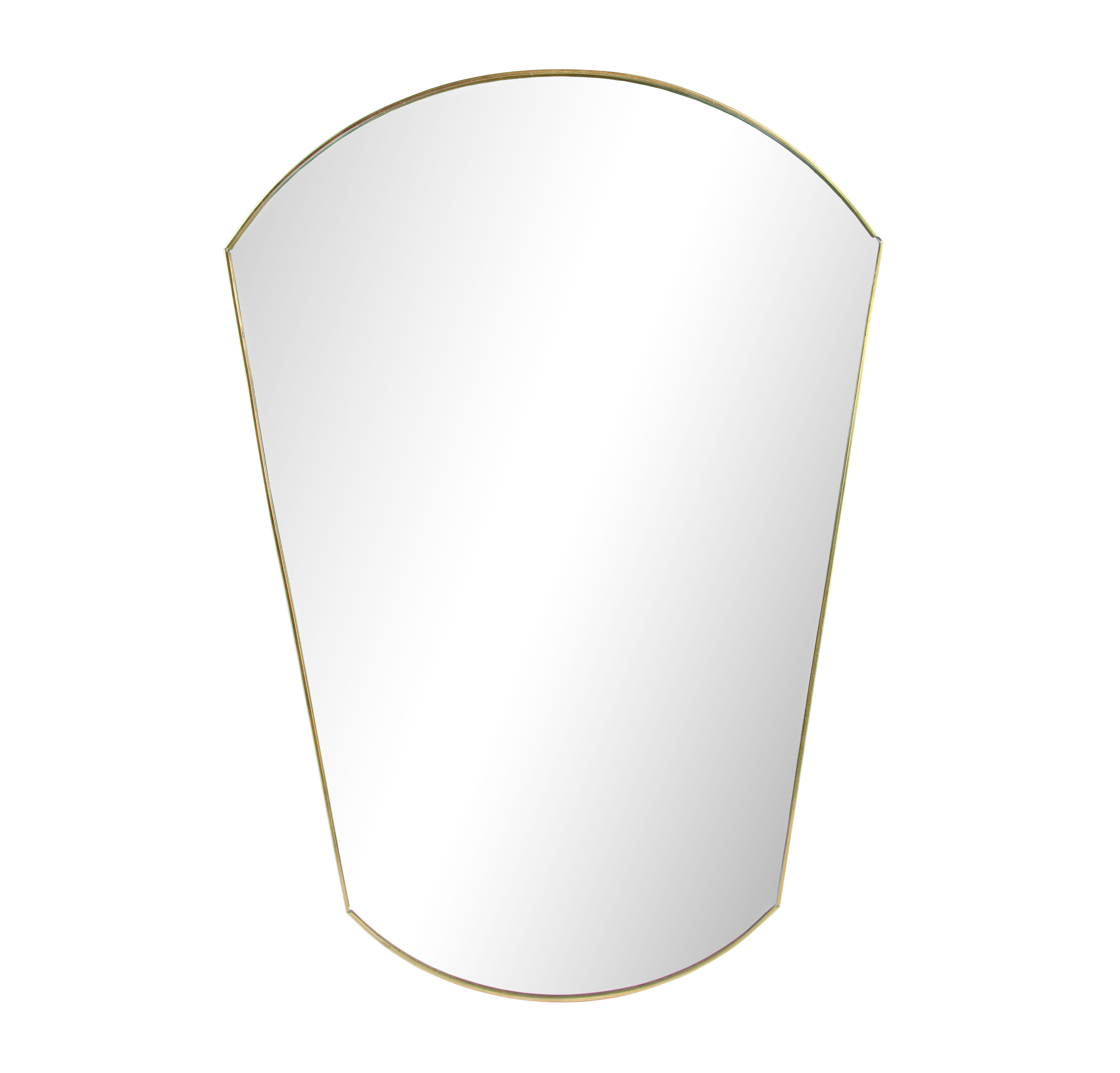 Decoration - Mirrors - Gold Oval Wall mirror - / L 30 x H 43 cm by & klevering - Oval / Brass - Glass, Metal