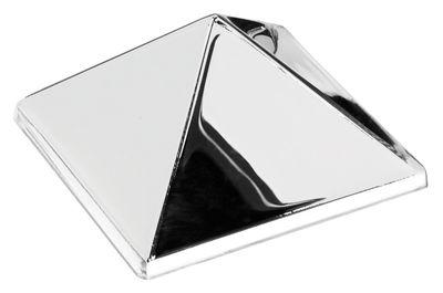 Furniture - Mirrors - Sculptures Wall mirror - 1 pyramid - Panton 1965 by Verpan - 1 pyramid - Silver / Mirror - PMMA
