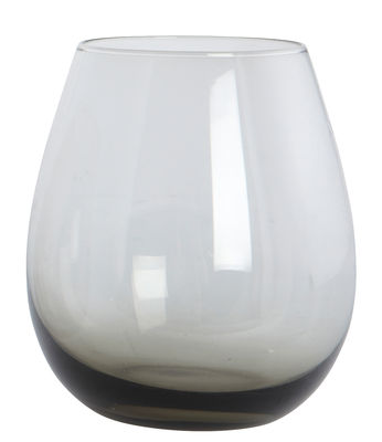 Tableware - Wine Glasses & Glassware - Ball Water glass - /H 10 cm by House Doctor - Smoked grey - Mouth blown glass