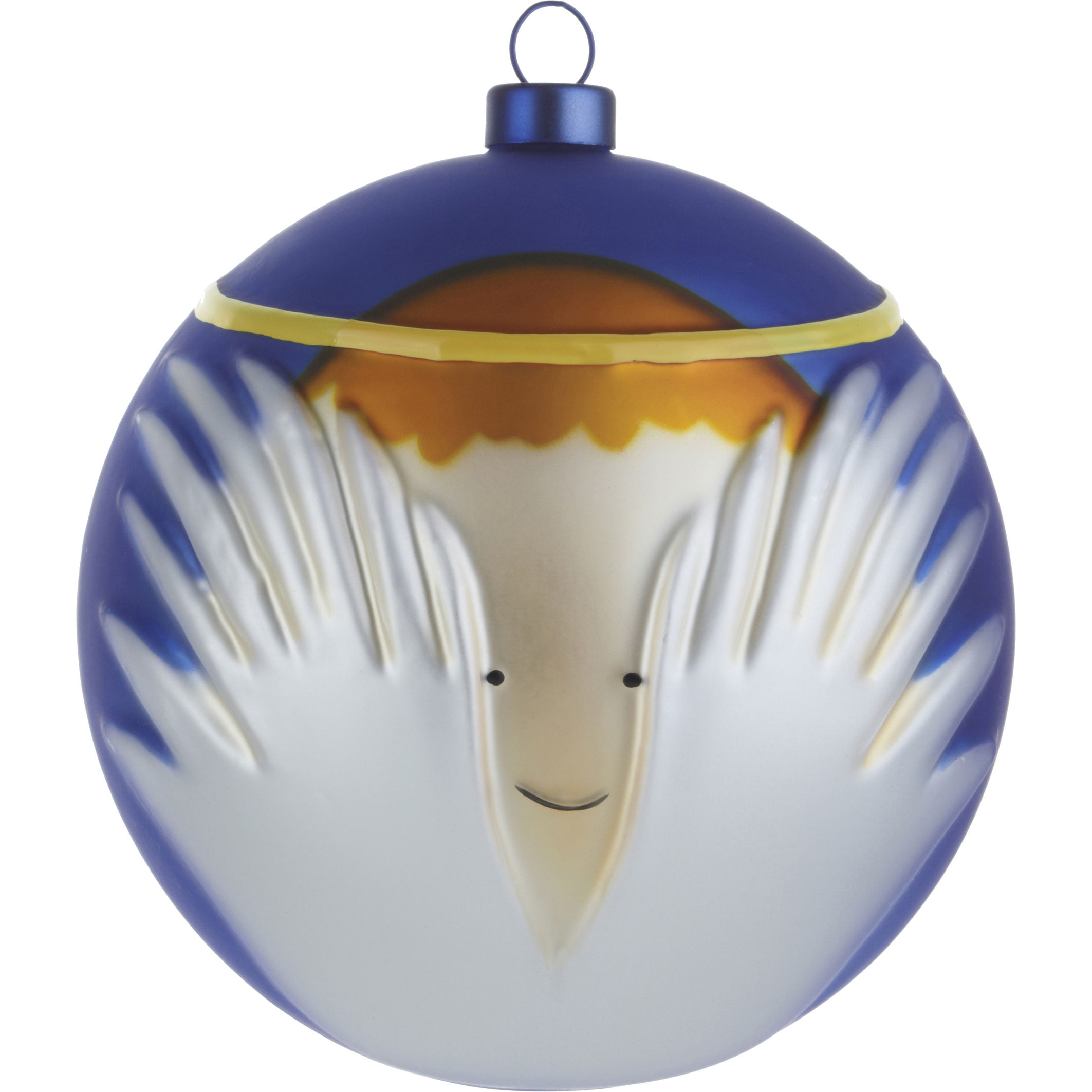 Dekoration - Dekorationsartikel - Angioletto Weihnachtskugel / Engel - A di Alessi - Engel - blau, weiß & gold - mundgeblasenes Glas