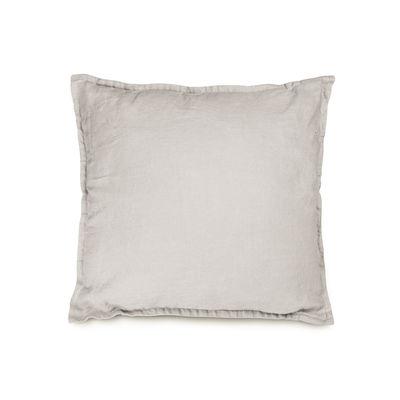 Decoration - Cushions & Poufs - Cushion - / 40 x 40 cm - Washed linen by Au Printemps Paris - Beige - Polyester, washed linen