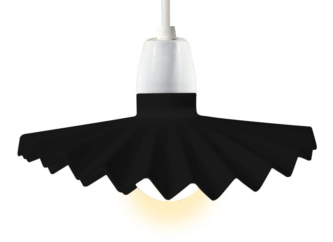 Luminaire - Luminaires d'extérieur - Abat-jour Cappello en silicone / Pour guirlande Bella Vista - Seletti - Noir - Silicone