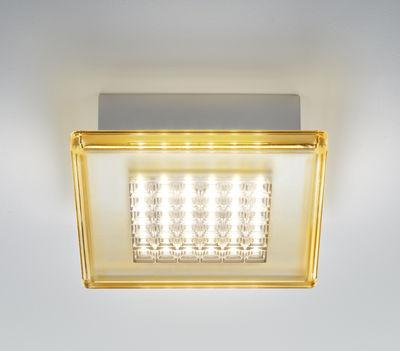 Applique Quadriled LED / Plafonnier - 16 x 16 cm - Fabbian ambre en matière plastique