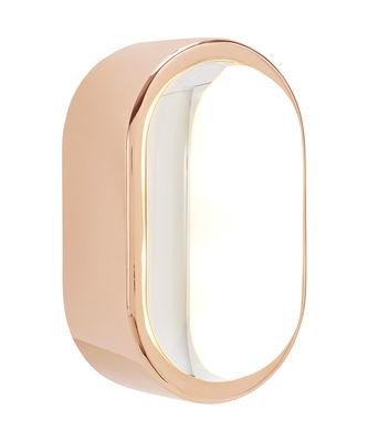 Luminaire - Appliques - Applique Spot LED / Ovale - 18 x 10 cm - Tom Dixon - Cuivre - Acier plaqué cuivre, Verre