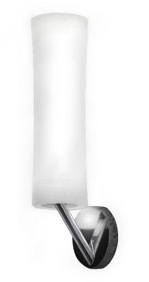 Luminaire - Appliques - Applique Také 21 LED - Lumen Center Italia - Blanc / Base Chromée - Aluminium, Polyéthylène