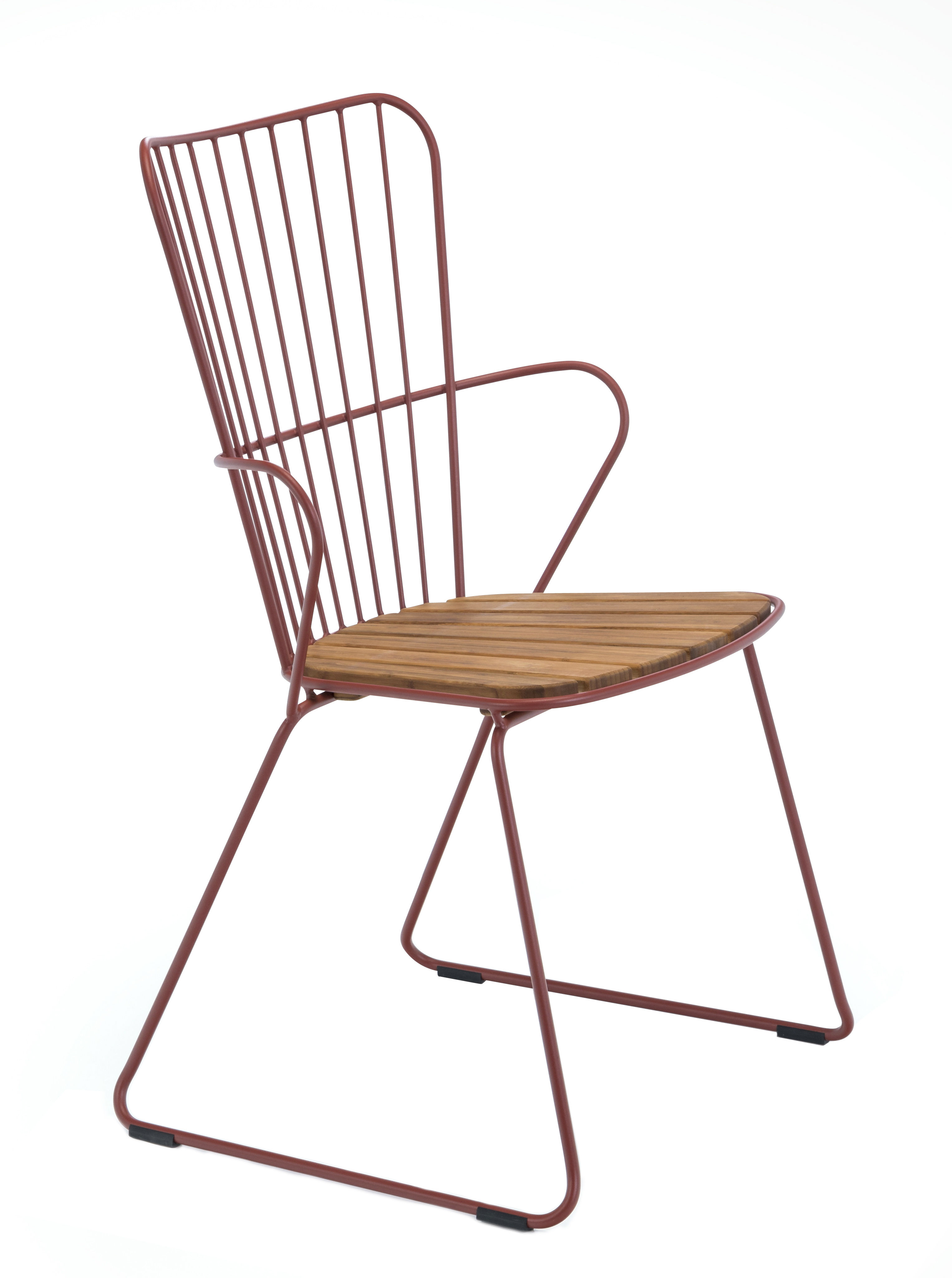 Furniture - Chairs - Paon Armchair - / Metal & bamboo by Houe - Armchair / Paprika - Bamboo, Powder-coated steel