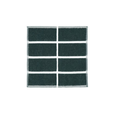 Dossiers - Garden Party - Asciugamano Tiiliskivi - / 30 x 30 cm di Marimekko - Tiiliskivi / Verde, sabbia, oro - Spugna di cotone