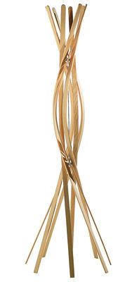 Image of Attaccapanni in piedi Twist di Horm - Legno naturale - Legno