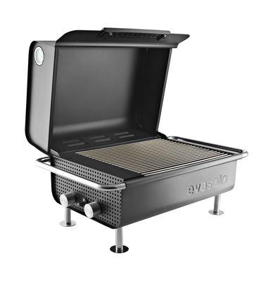 Jardin - Barbecues et braséros - Barbecue à gaz Box / L 60 x H 34 cm - Eva Solo - Barbecue / Noir - Acier inoxydable, Bakélite