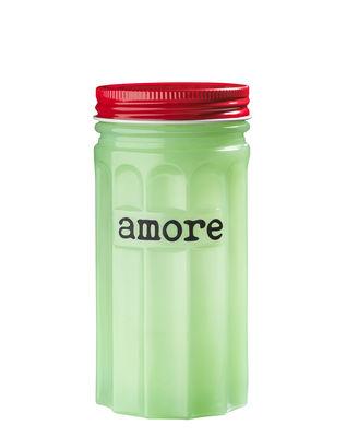 Cuisine - Boîtes, pots et bocaux - Boîte Amore / H 14,5 cm - Porcelaine - Bitossi Home - Amore  / Vert & rouge - Porcelaine