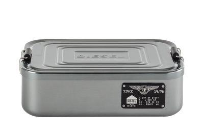 Cuisine - Boîtes, pots et bocaux - Boîte Bento Large / Métal - L 23 x H 7 cm - Diesel living with Seletti - Large / Chromé - Métal chromé