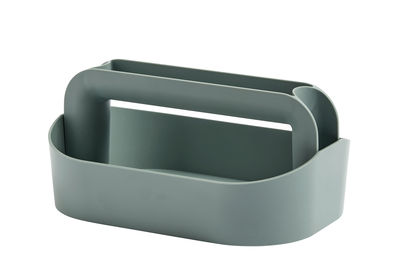 Accessories - Desk & Office Accessories - Tool Box, Boîte à maquillage Box - / L 30.5 x H 14.5 cm by Hay - Grey green - ABS