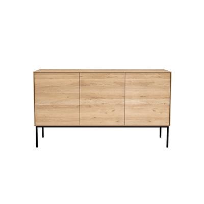 Mobilier - Commodes, buffets & armoires - Buffet Whitebird / Chêne massif - L 150 cm / 3 portes - Ethnicraft - Chêne / Pieds noirs - Chêne massif, Métal verni