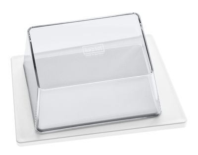 Kitchenware - Kitchen Equipment - Kant Butter dish by Koziol - White / Transparent lid - SAN plastic