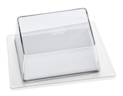 Tischkultur - Boxen und Aufbewahrung - Kant Butterdose - Koziol - Weiß / Deckel transparent - Plastik mit SAN