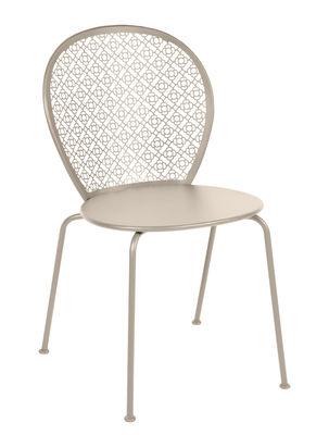 Mobilier - Chaises, fauteuils de salle à manger - Chaise empilable Lorette / Métal perforé - Fermob - Muscade - Acier laqué