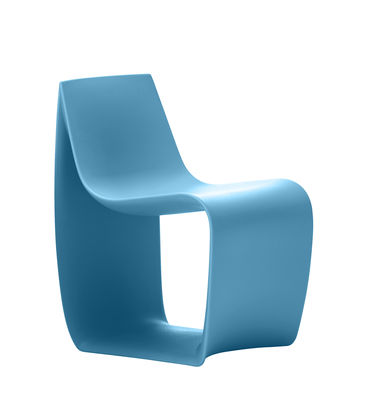 Fauteuil enfant Sign Baby / Polyéthylène - MDF Italia bleu ciel en matière plastique