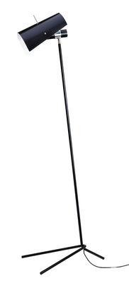 Lighting - Floor lamps - Claritas Floor lamp - Reissue 1946 - H 164 cm by Nemo - Black - Painted aluminium, Painted metal