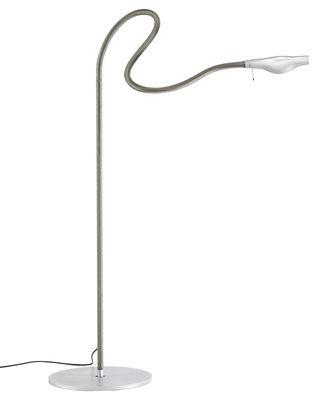 Lighting - Floor lamps - Metall F. Cooper Floor lamp by Ingo Maurer - Grey - Metal, Rubber