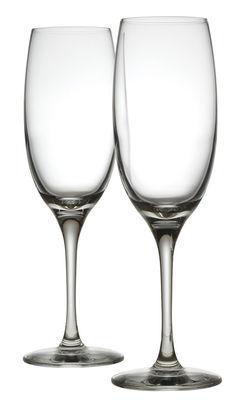 Flûte à champagne Mami XL / Lot de 2 - Alessi transparent en verre