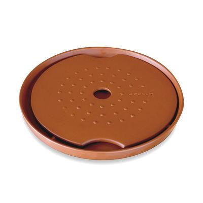 Kitchenware - Kitchen Equipment - CFG Foie gras cooker - / Clay - Ø 29 x H 3 cm by Cookut - Brick - Red clay