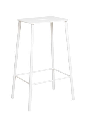 Furniture - Bar Stools - Adam Outdoor High stool - / H 65 cm by Frama  - White - Epoxy lacquered steel