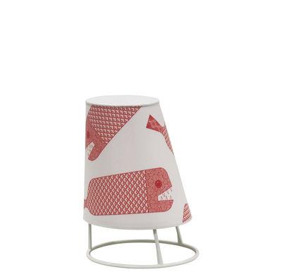 Illuminazione - Lampade da tavolo - Lampada senza fili Cone LED Small - / H 22 cm di Emu - Pesce - Materiale plastico, policarbonato, Tessuto sintetico