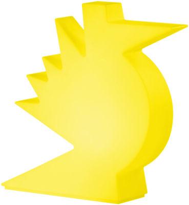 Lampe de table Here / L 50 x H 50 cm - Slide jaune en matière plastique