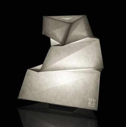 Luminaire - Lampes de table - Lampe de table IN-EI Yadokari LED / H 30 cm - Artemide - Blanc - Aluminium, Fibre PET