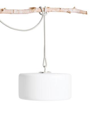 Lampe sans fil Thierry Le swinger LED / Baladeuse à poser, suspendre ou planter - Fatboy blanc,gris clair en matière plastique