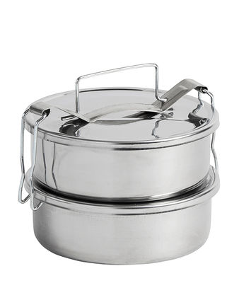 Kitchenware - Kitchen Storage Jars - Pinic Lunch box - / 2 compartments by Hay - 2 compartments / Steel - Stainless steel