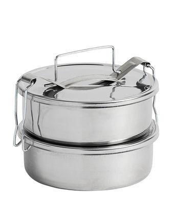 Cucina - Lattine, Pentole e Vasi - Lunch box Pinic - / 2 scomparti - Ø 13,5 cm di Hay - 2 scomparti / Acciaio - Acciaio inossidabile