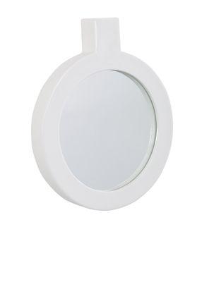 Déco - Miroirs - Miroir mural Label / L 24 x H 29,5 cm - Thelermont Hupton - Blanc - Miroir, Porcelaine de Chine