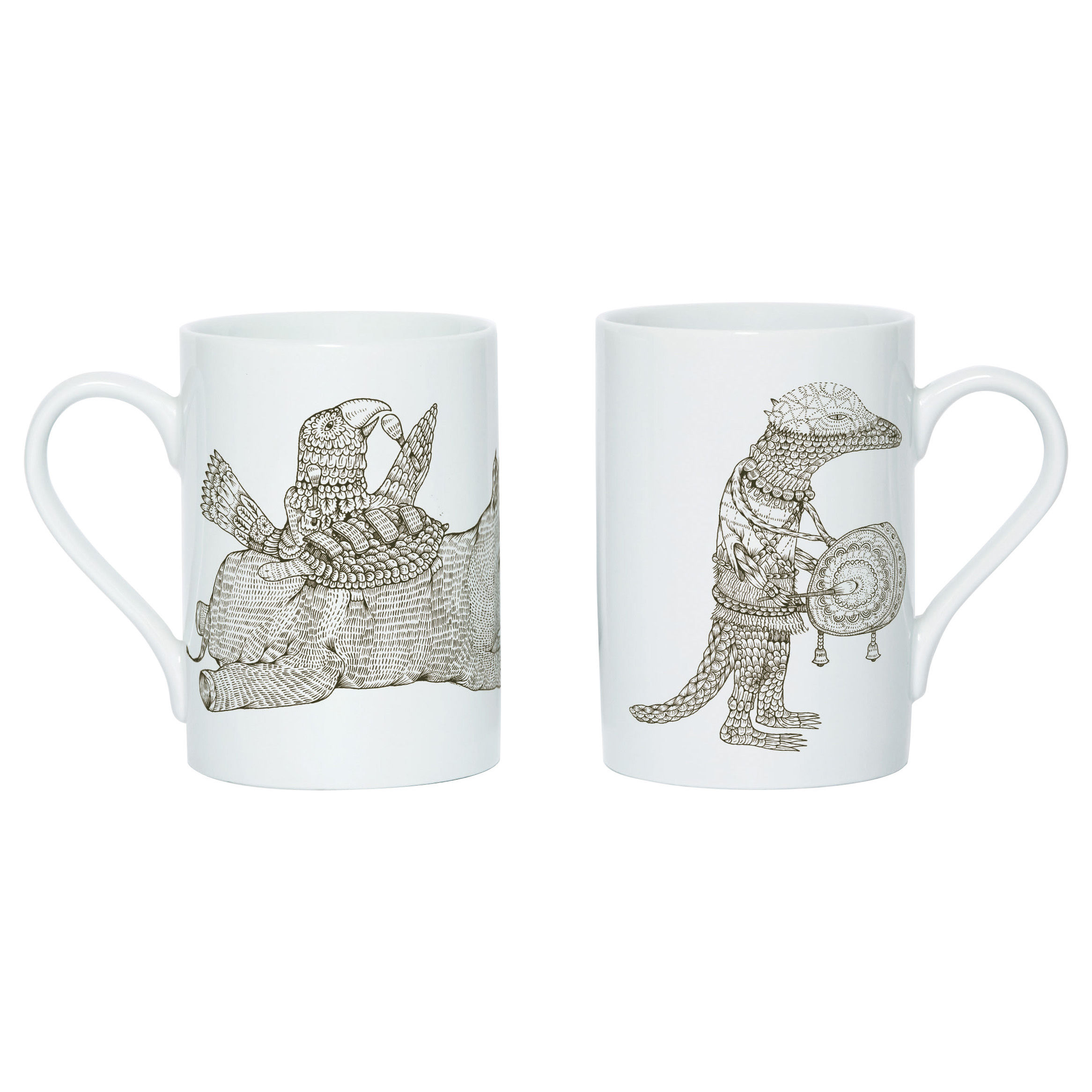 Arts de la table - Tasses et mugs - Mug Hivibes B - Domestic - Hivibes B / Brun - Porcelaine
