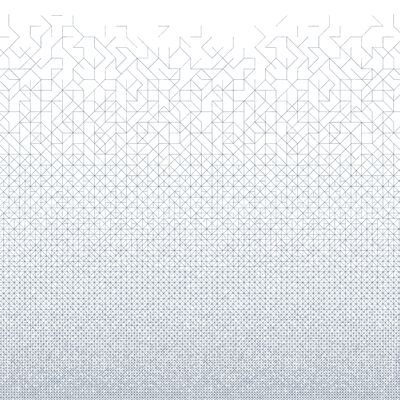 Decoration - Wallpaper & Wall Stickers - Modular Panoramic Wallpaper - 2 bands by Bien Fait - White / Black - Intisse paper