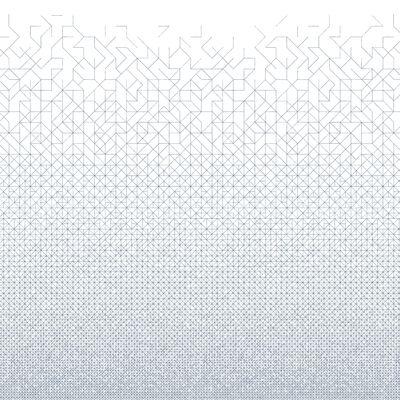 Déco - Stickers, papiers peints & posters - Papier peint panoramique Modular / L 180 x H 280 cm (3 lés de 60 cm) - Bien Fait - Blanc / Bleu Indigo - Papier intissé