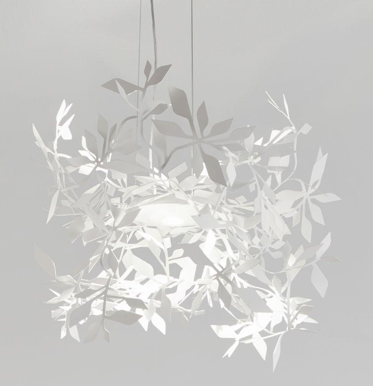 Leuchten - Pendelleuchten - Ramage Pendelleuchte LED / Ø 52 cm - Lumen Center Italia - Weiß - Stahl
