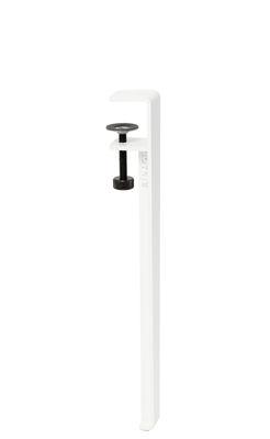 Pied avec fixation étau / H 43 cm - Pour créer tables basse & banc - TIPTOE blanc en métal