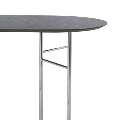 Plateau ovale / Pour tréteaux Mingle Small - 150 x 75 cm - Ferm Living noir en bois