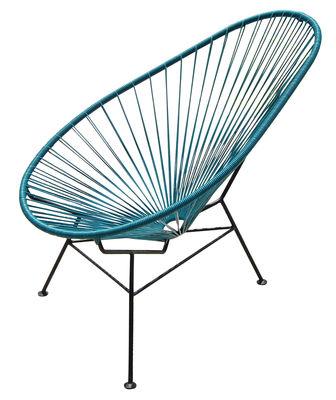 Arredamento - Poltrone design  - Poltrona bassa Acapulco di OK Design pour Sentou Edition - Petrolio - Acciaio laccato, Materiale plastico