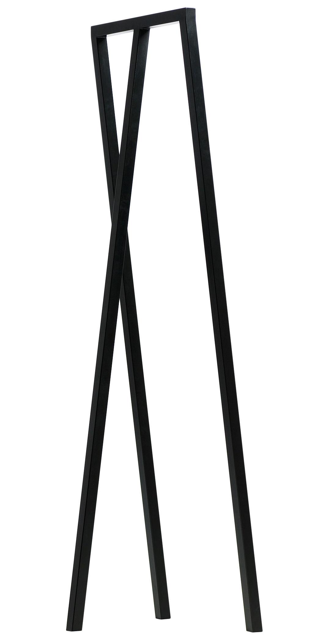 Mobilier - Portemanteaux, patères & portants - Portant Loop / L 45 cm - Hay - Noir - Acier laqué
