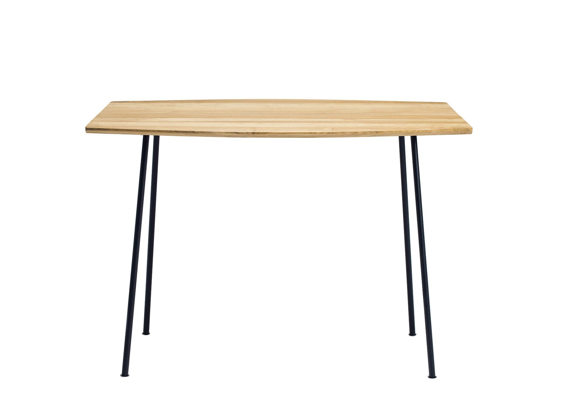 Outdoor - Tische - Agave quadratischer Tisch / 90 x 90 cm - Ethimo - Teakholz & schwarz - lackiertes Metall, Teck naturel